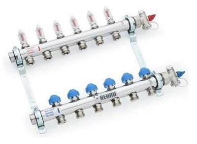 Коллектор Rehau HKV-D 5 контуров для тёплого пола с расходомерами арт. 12080511002 - фото 11127