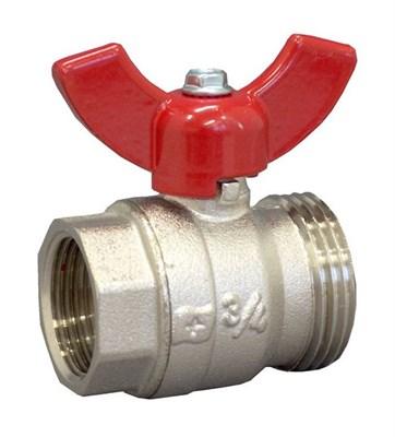 """Кран шаровый Oventrop 1406383 G 3/4"""" ВР x G 1"""" НР с плоским уплотнением - фото 11197"""