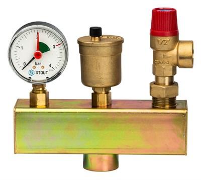 """Группа безопасности котла Watts KSG 30/20M-ISO (с теплоизоляцией), 1"""", до 100 кВт 10005204 - фото 11305"""
