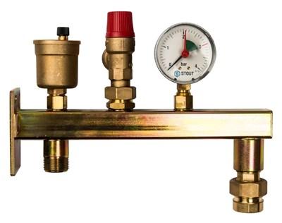 Группа безопасности котла Stout до 50 кВт (без теплоизоляции) SVS-0004-015025 - фото 11318