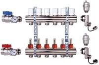 Vieir Коллектор 6 выходов из нержавеющей стали в сборе с расходомерами